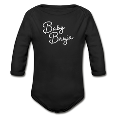 Baby Bruja Long Sleeve Onesie - black