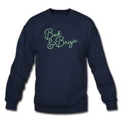 Bad & Bruja Crewneck Sweatshirt - navy