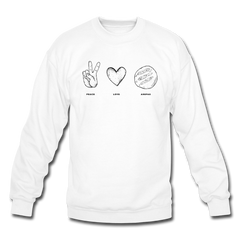 Peace Love Arepas Crewneck Sweatshirt - white