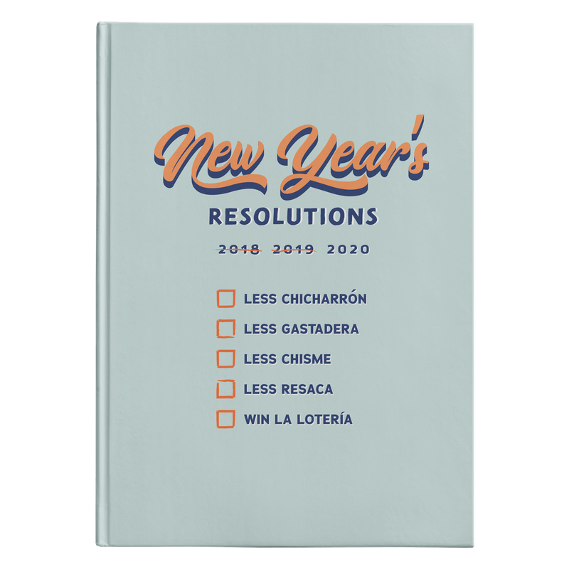 New Year's Resolutions Hardcover Journal