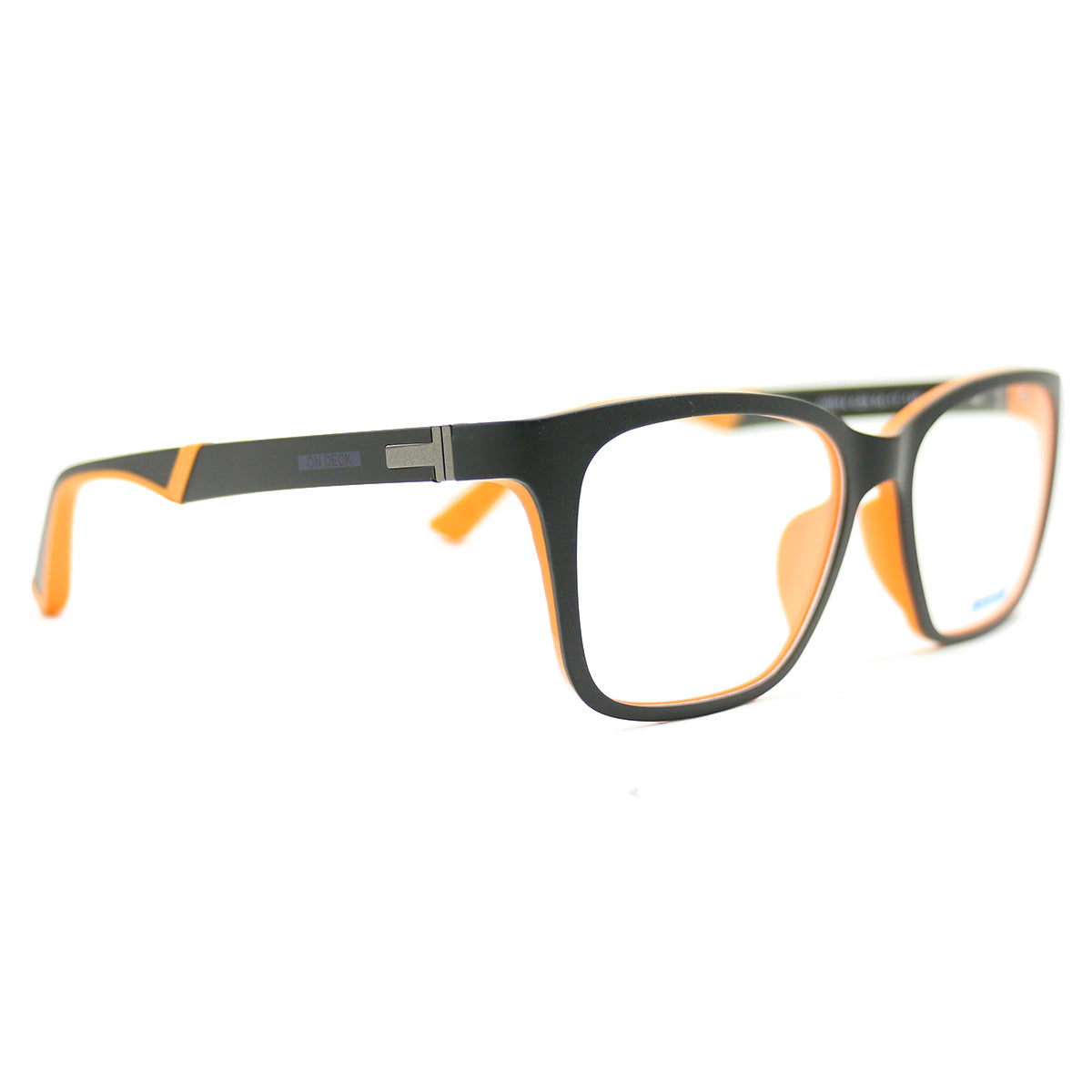 New On Deck Eyeglasses OD014 Ultem Black/Orange 54 17 140 without case