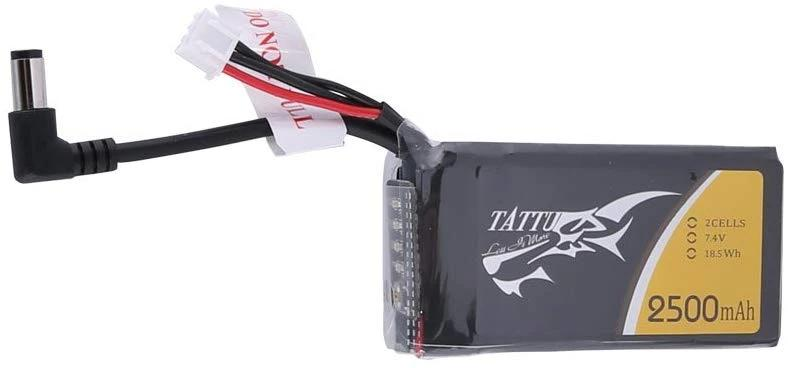 Tattu 2500mAh 2S1P Fatshark Goggles Lipo Battery Pack with DC5.5mm Plug