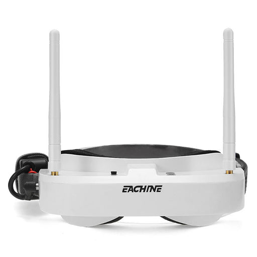 Eachine EV100 720*540 5.8G 72CH FPV Goggles With Dual Antennas Fan 7.4V 1000mAh Battery For RC Drone - White