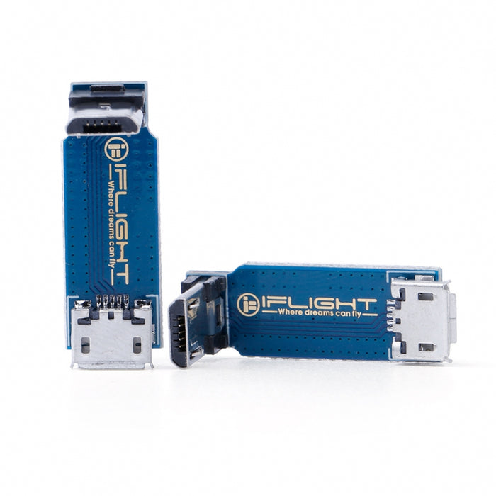 L-Type Adapter Plate Micro USB Male to Female
