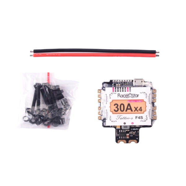 Racerstar TattooF4S 30A BLHELI_32 4in1 ESC 5V BEC w/ F4 Flight Controller AIO OSD Current Sensor for RC Drone