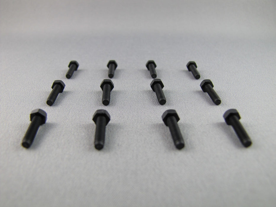 M3 x 10mm Bolt - Black Nylon 6/6 - (set of 13)