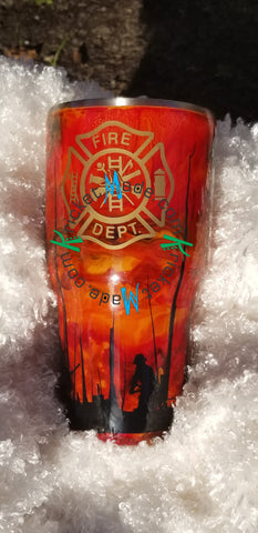 Firefighter 30 Oz Insulated Stainless Steel Tumbler