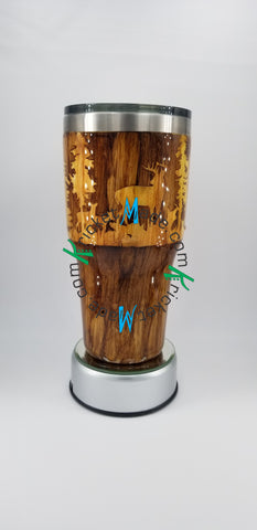Wood Grain Tumbler Stainless Steel Insulated