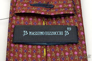 "Massimo BIzzocchi Tie (3.25"" - 3.75"" / Red / Light Wear)"