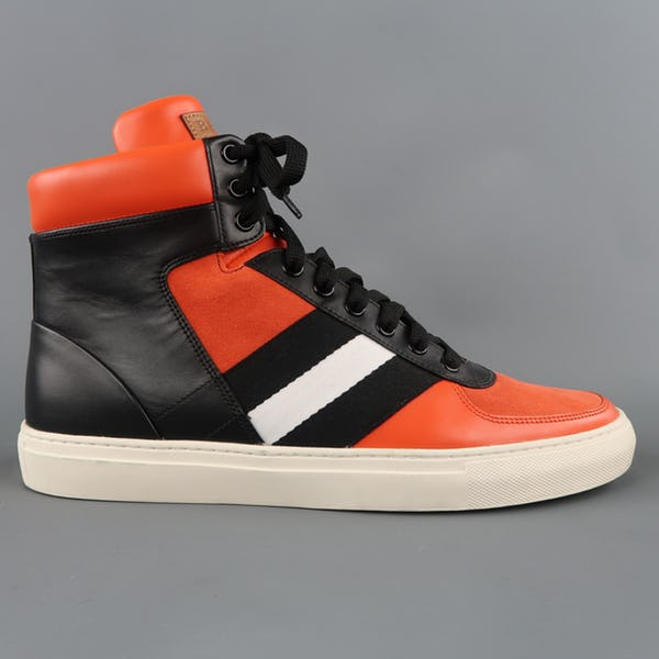 Bally Sneakers (11.5 / Orange / Light Wear)