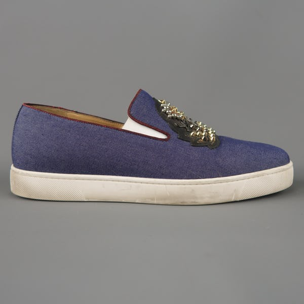 Christian Louboutin Sneakers (10.5 / Blue / Light Wear)