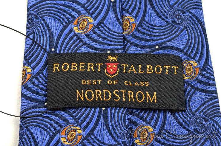 "Robert Talebott Tie (3.75""+ / Blue / Light Wear)"