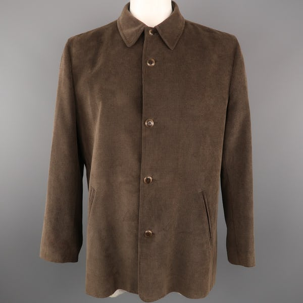 Ermenegildo Zegna Jacket / Coat (XXL / Brown / Light Wear)