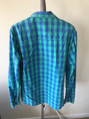 H & M Forever 21 Casual Button Up (S / Green / Light Wear)