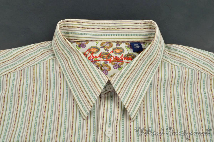 Robert Graham Casual Button Up (XXL / Multi / Light Wear)