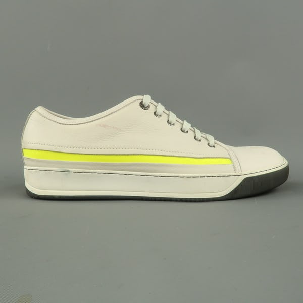 Lanvin Sneakers (10 / White / Light Wear)