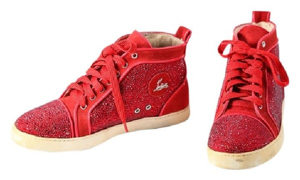 Christian Louboutin Shoes (12 / Red / Light Wear)