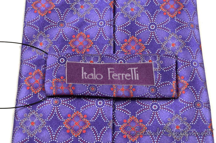 "Italo Ferretti Tie (3.25"" - 3.75"" / Purple / Light Wear)"