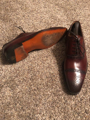 Magnanni Shoes (10.0 / Red / Light Wear)