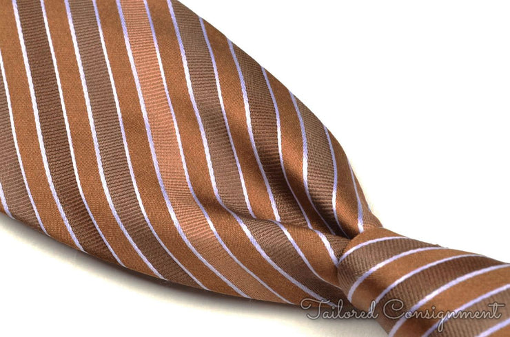 "Borrelli Tie (3.25"" - 3.75"" / Brown / Light Wear)"