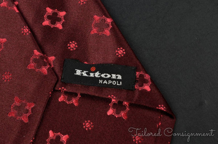 "Kiton Tie (3.25"" - 3.75"" / Red / Light Wear)"