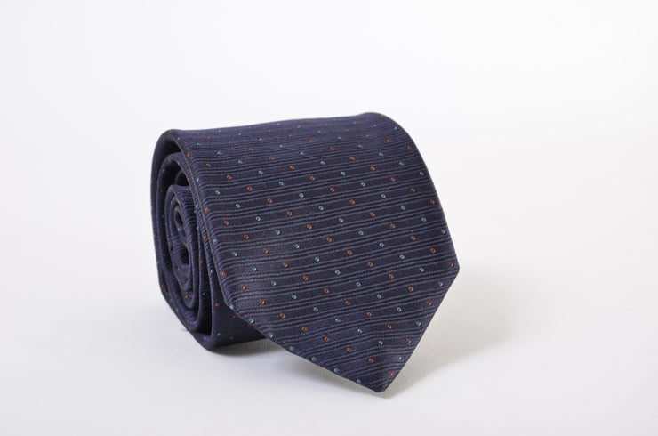 "Robert Talbott Tie (3.25"" - 3.75"" / Blue / New)"