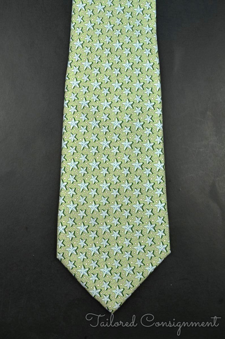 "Vineyard Vines Tie (3.25"" - 3.75"" / Green / Light Wear)"