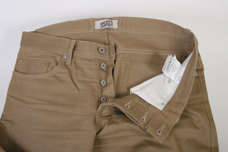 Naked & Famous Denim Jeans (36x34 / Brown / New)