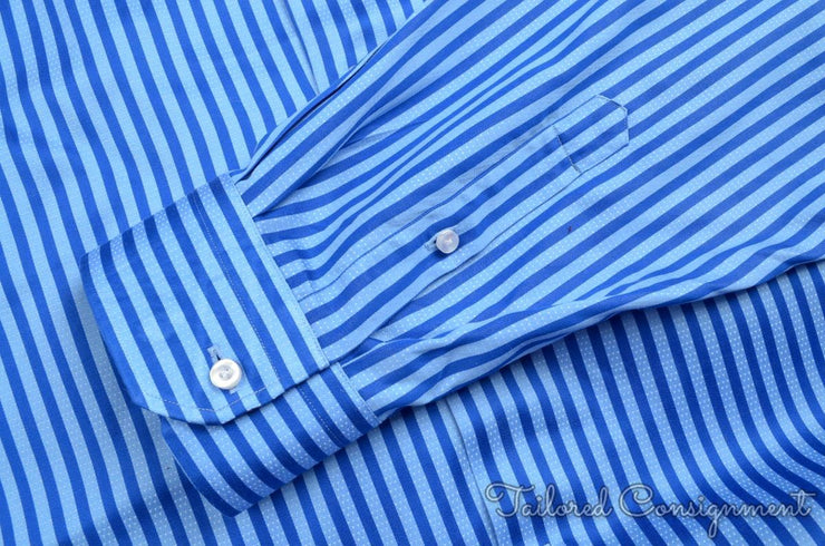 Robert Graham Dress Shirt (XXL / 18.5 / Blue / Light Wear)