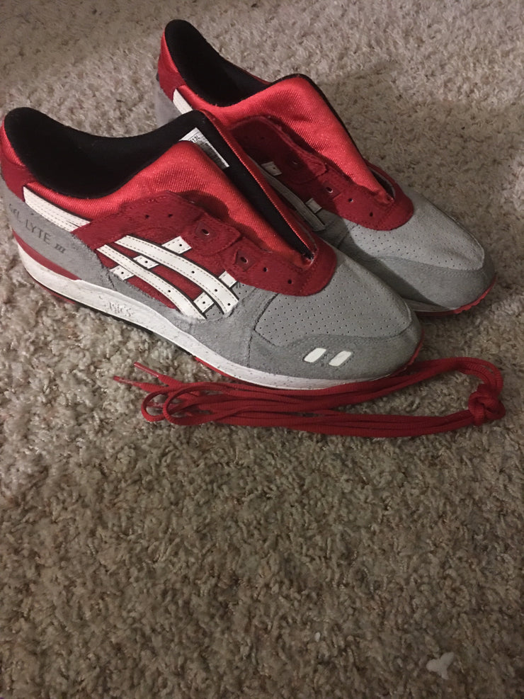 ASICS Tiger Sneakers (11.5 / Grey / Well Worn)