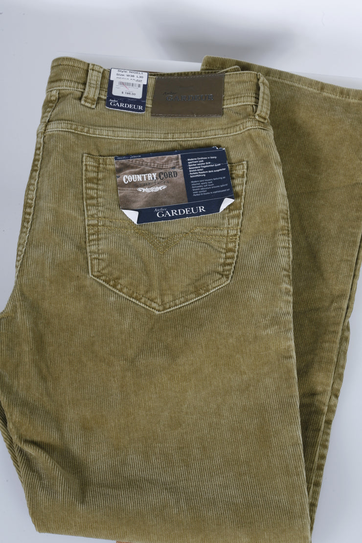 Gardeur Pants (32 / Khaki / New)