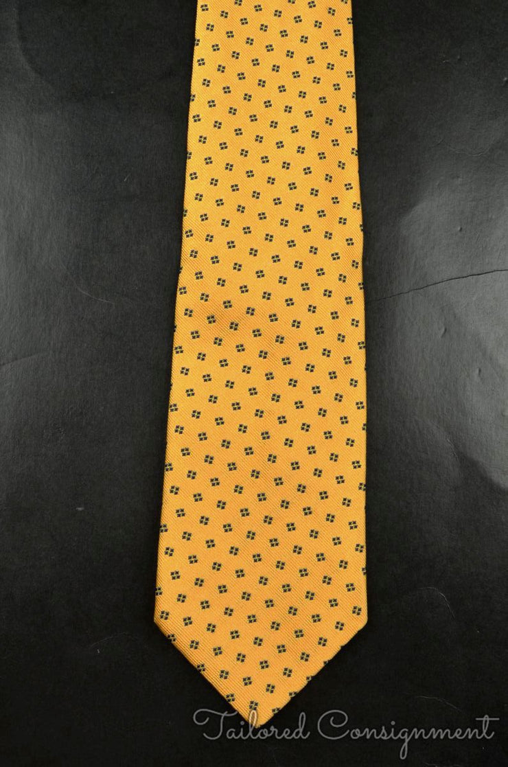 "Salvatore Ferragamo Tie (3.25"" - 3.75"" / Yellow / Light Wear)"