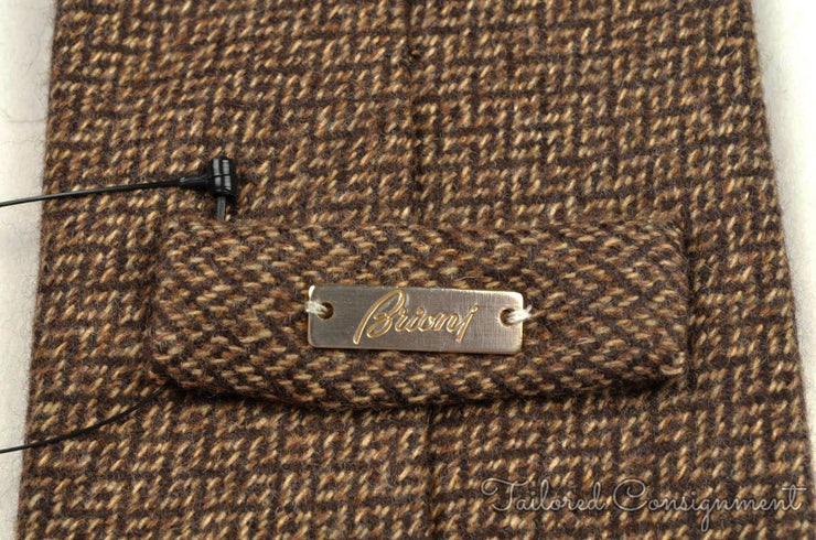 "Brioni Tie (3.25"" - 3.75"" / Brown / Light Wear)"