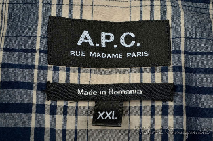 A.P.C. Casual Button Up (XXL / Multi / New)
