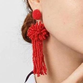 Beads Tassel Earrings - Ellevoke