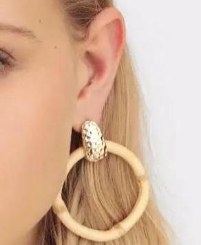 Bamboo Circle Earrings - Ellevoke