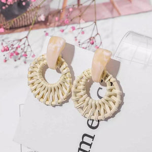 Rattan Horn Earrings - Ellevoke