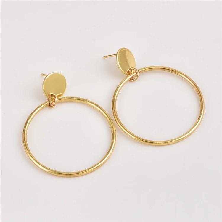 Gold Circle Earrings - Ellevoke