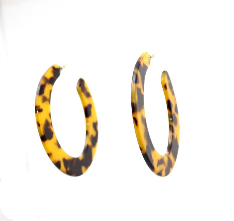 Acetate Open Circle Earrings - Ellevoke