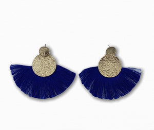 Wide Tassel Earrings - Ellevoke