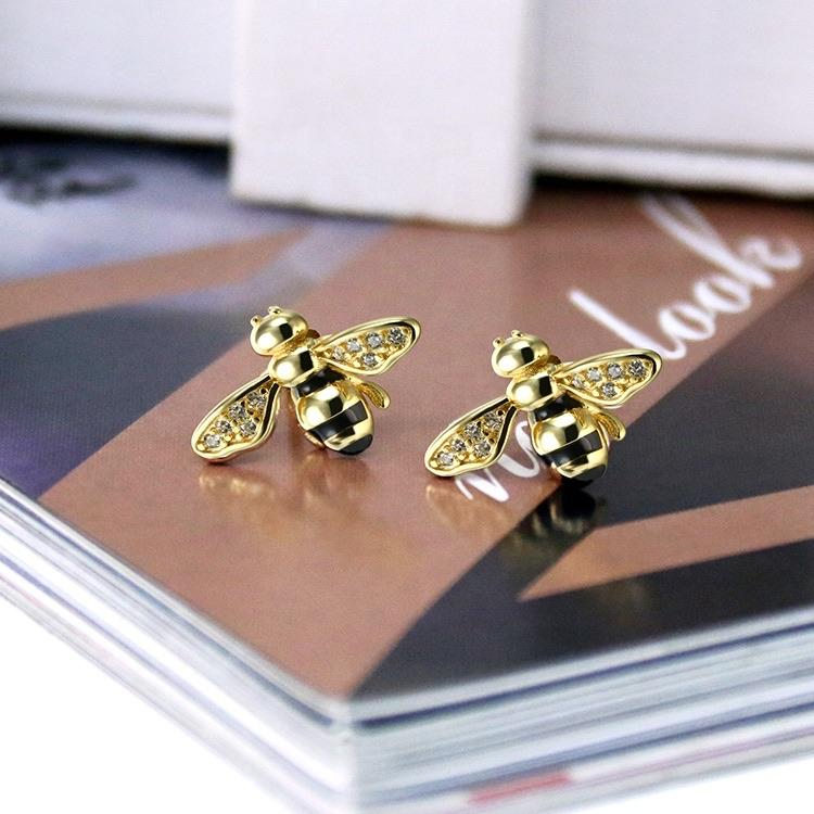 Lovely Bee Earrings 925 Silver - Ellevoke
