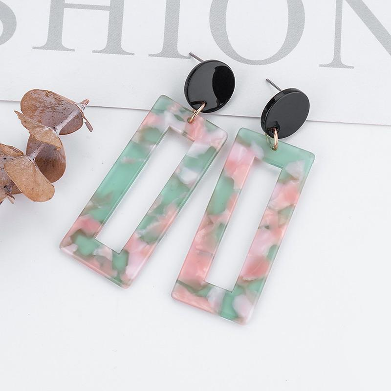 Acetate Rectangle Earrings - Ellevoke