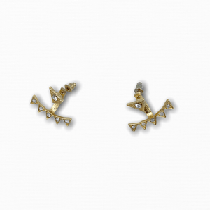 Crystal Triangle Earrings Two Sided - Ellevoke
