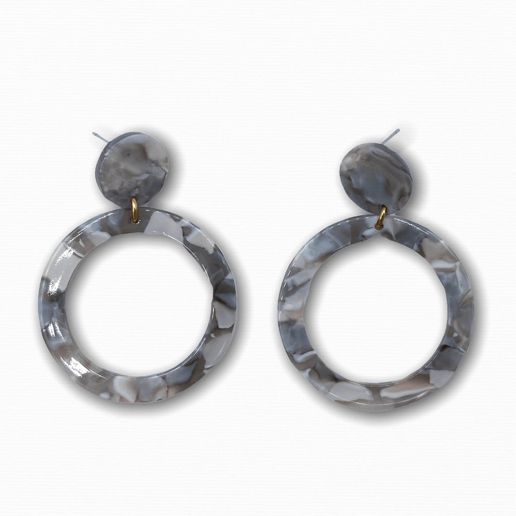 Small Acetate Round Earrings - Ellevoke