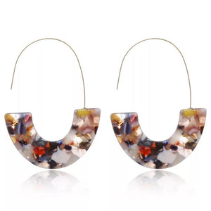 Big Hook Acetate Earrings - Ellevoke