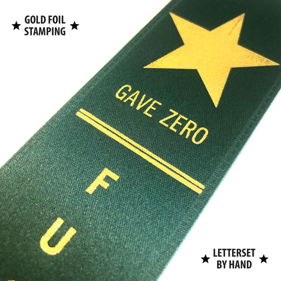 Gave Zero F*cks - Award Ribbon