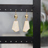 Darla Asymmetrical Shell Fancy Earrings