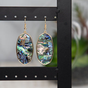 Olivia Abalone Shell Slab Earrings