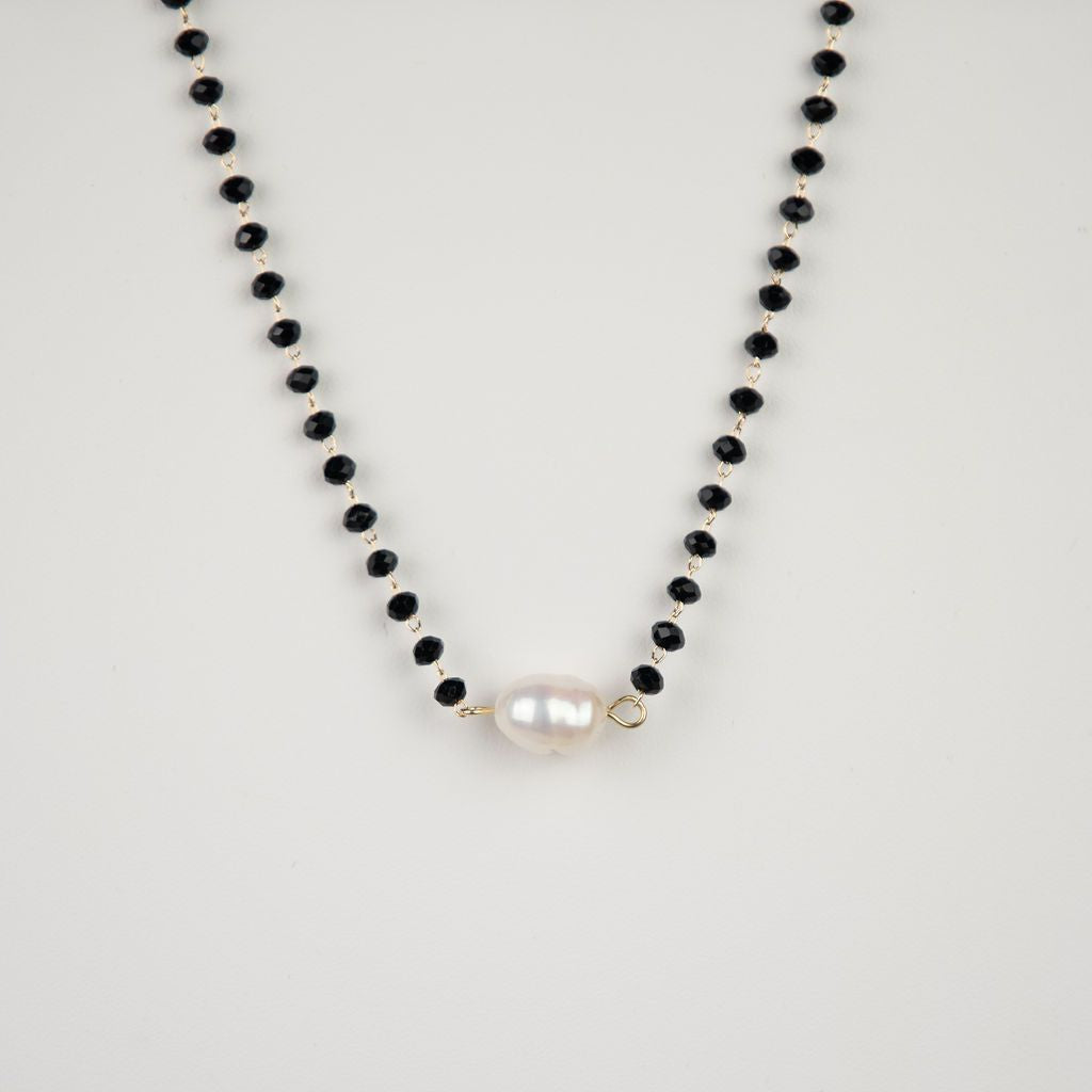 Mara Beaded and Fresh Water Pearl Necklace