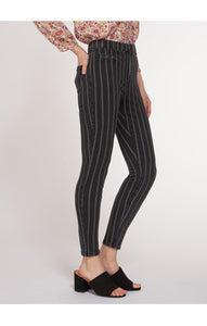 High rise Skinny Jeans with Pinstripe